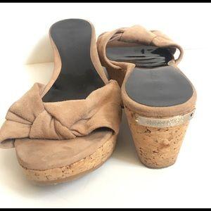 Jimmy Choo Cork Wedge Sandals Sz 38